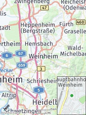 Here Map of Weinheim