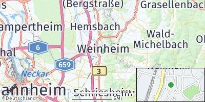 Google Map of Weinheim