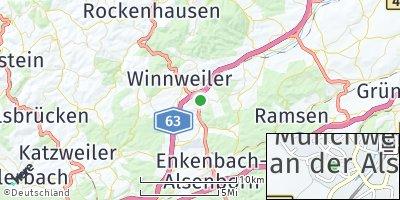 Google Map of Münchweiler an der Alsenz