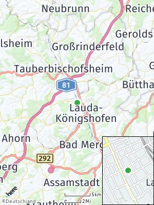 Here Map of Lauda-Königshofen