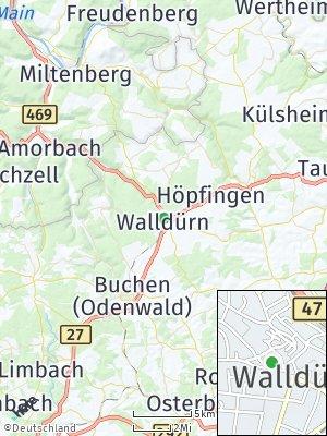 Here Map of Walldürn / Storchhof