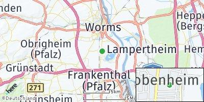 Google Map of Bobenheim-Roxheim