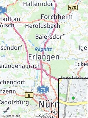 Here Map of Erlangen