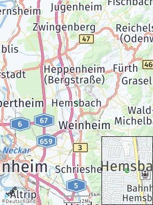 Here Map of Hemsbach