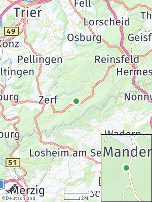 Here Map of Mandern bei Hermeskeil