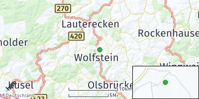 Google Map of Oberweiler-Tiefenbach