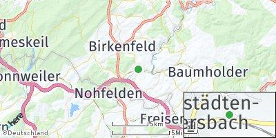 Google Map of Hoppstädten-Weiersbach