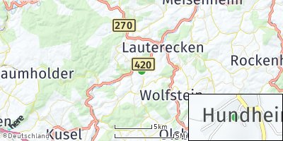 Google Map of Offenbach-Hundheim