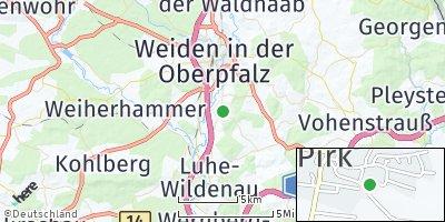 Google Map of Pirk bei Weiden