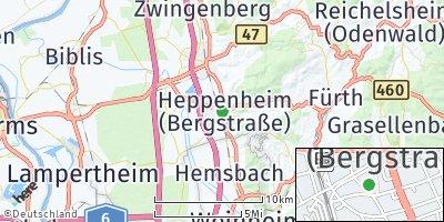 Google Map of Heppenheim