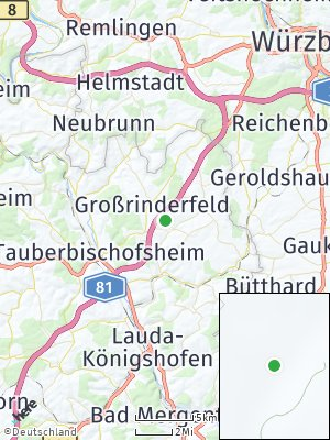 Here Map of Großrinderfeld