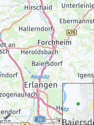 Here Map of Baiersdorf