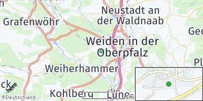 Google Map of Neunkirchen bei Weiden