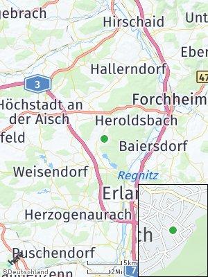 Here Map of Röttenbach bei Forchheim
