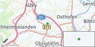 Google Map of Flörsheim-Dalsheim