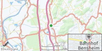 Google Map of Bensheim