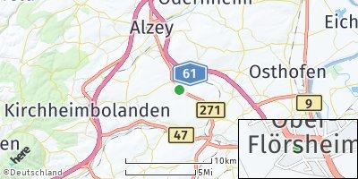 Google Map of Ober-Flörsheim