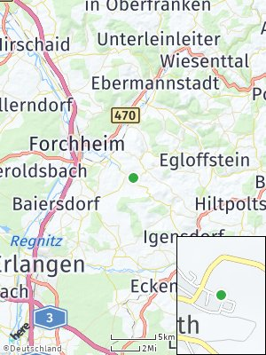 Here Map of Kunreuth bei Forchheim
