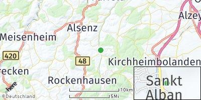Google Map of Sankt Alban