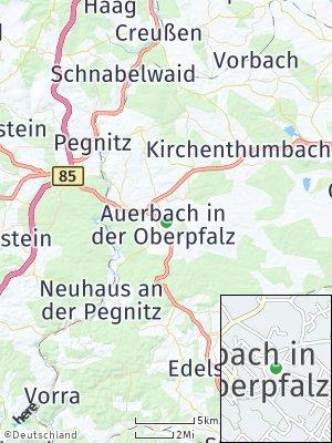 Here Map of Auerbach in der Oberpfalz