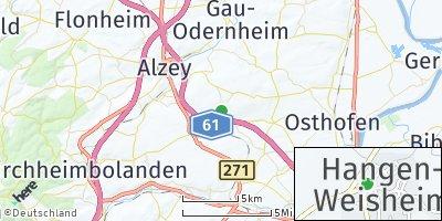 Google Map of Hangen-Weisheim