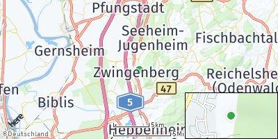 Google Map of Zwingenberg