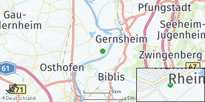 Google Map of Hamm am Rhein