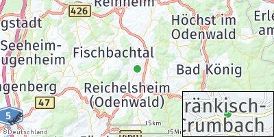 Google Map of Fränkisch-Crumbach