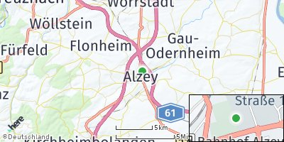 Google Map of Alzey