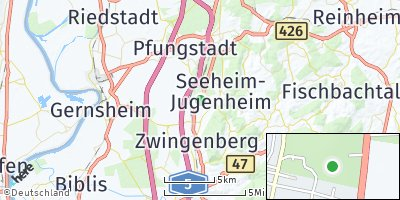 Google Map of Bickenbach