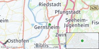Google Map of Gernsheim