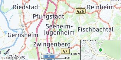 Google Map of Seeheim-Jugenheim