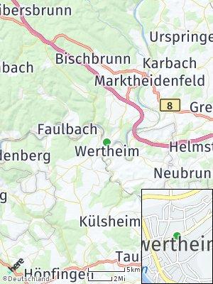 Here Map of Kreuzwertheim