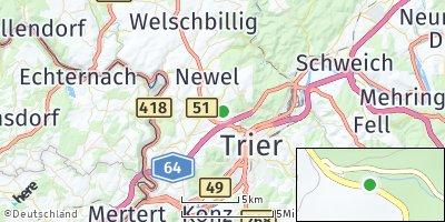 Google Map of Aach bei Trier