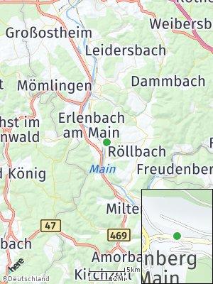 Here Map of Klingenberg am Main