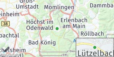 Google Map of Lützelbach