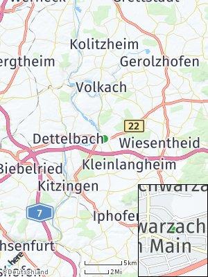Here Map of Schwarzach am Main