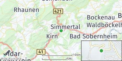 Google Map of Hochstetten-Dhaun