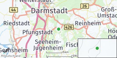 Google Map of Mühltal