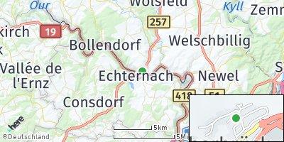 Google Map of Echternacherbrück