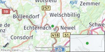 Google Map of Ralingen an der Sauer