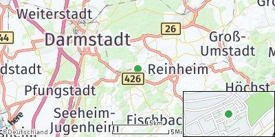 Google Map of Ober-Ramstadt