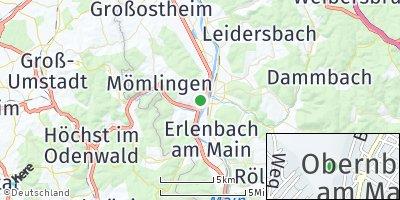 Google Map of Obernburg am Main