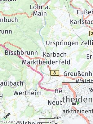 Here Map of Marktheidenfeld