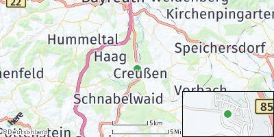 Google Map of Creußen