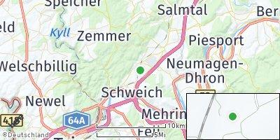 Google Map of Föhren bei Trier