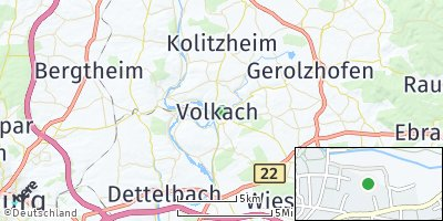 Google Map of Volkach