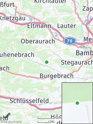 Here Map of Schönbrunn im Steigerwald