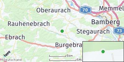 Google Map of Schönbrunn im Steigerwald