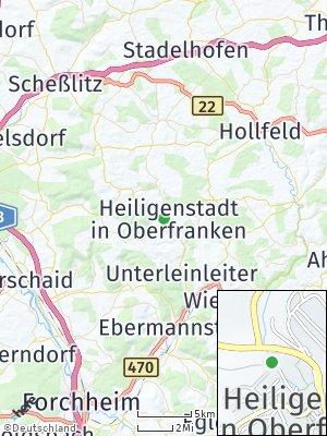 Here Map of Heiligenstadt in Oberfranken